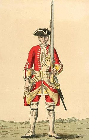 Battle of Melle - British soldier of 20th Regiment in the 1740s