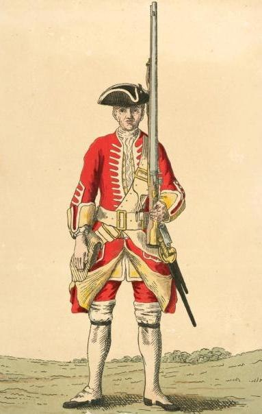 Soldier of 20th regiment 1742