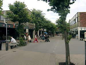 Solrød Municipality - Solrød Centre, home to the town hall, the local S-train station and many shops