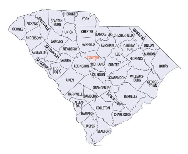 Gatlin South Carolina Map.List Of Counties In South Carolina Wikiwand