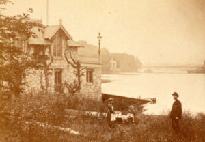 Crescent Boat Club - Image: South from River Drive, by Cremer, James, 1821 1893 crop
