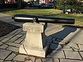 Southeastern cannon on Monroe County Courthouse lawn in good weather.jpg