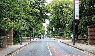 Liverpool Hope University - Image: Southern entrance to Hope Park