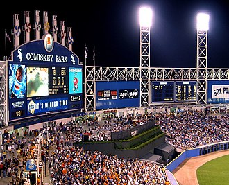 Guaranteed Rate Field - The then Comiskey Park in 2002 with the new batter's eye