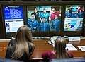 Soyuz TMA-07M crew talks with the Russian Mission Control.jpg
