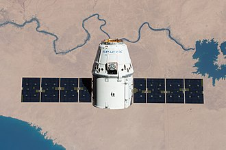 SpaceX CRS-11 - CRS-11 Dragon capsule on approach to the ISS