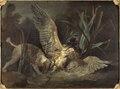 Spaniel Seizing a Bittern (Jean-Baptiste Oudry) - Nationalmuseum - 17864.tif