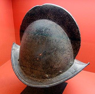 Morion (helmet) - A Spanish conquistador comb morion (c. 17th century)