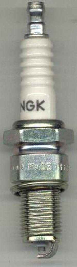 Spark gap - A spark plug. The spark gap is at the bottom.