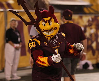Sparky the Sun Devil Arizona State University mascot