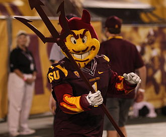 Sparky the Sun Devil - Sparky the Sun Devil performing in 2011