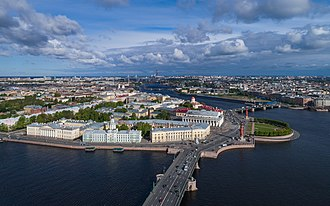 Continuation War - Vasilievsky Island of St. Petersburg, pictured in 2017. During the Winter and Continuation Wars, Leningrad, as it was then known, was of strategic importance to both sides.