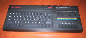 Picture of a Sinclair ZX-Spectrum 128 +2 I own.