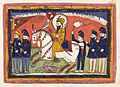 Sri Gobind Singh on horseback with his falcon and attendants. Wellcome L0041024.jpg