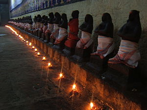 Nayanars - The 63 Nayanars in a Shiva temple