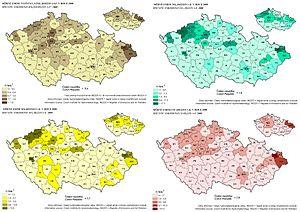 Srovnání kvality ovzduší v ČR - 2008