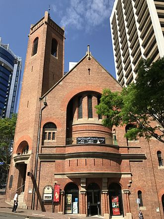 St Andrew's Uniting Church, Brisbane - Creek Street entrance, 2016