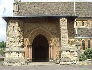 Nailsworth - The entrance to St George's Church