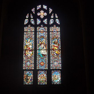 Roman Catholic Diocese of Ogdensburg - Stained glass window in the cathedral