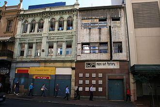 Hunters Buildings - Image: St Francis House & Symons Building Elizabeth Street frontages (2009)
