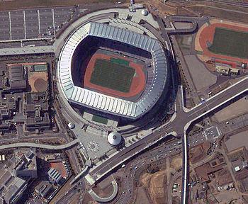 Vista aérea del Nissan Stadium