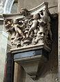 Stagio stagi, capitello del duomo di pietrasanta con putti e mascheroni 02.JPG