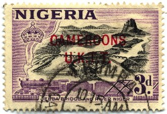 Postage stamps and postal history of the British Cameroons - Image: Stamp Cameroons 3d 250px