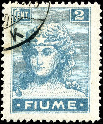 "Postage stamps and postal history of Fiume - Personification of ""Italy"", 1919"