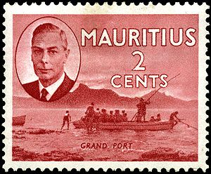 Grand Port District - Image: Stamp Mauritius 1950 2c