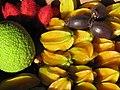 Starr-121109-0900-Averrhoa carambola-fruit with breadfruit from Pali o Waipio-Hawea Pl Olinda-Maui (25078654602).jpg