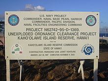 Navy sign in Honokanaia