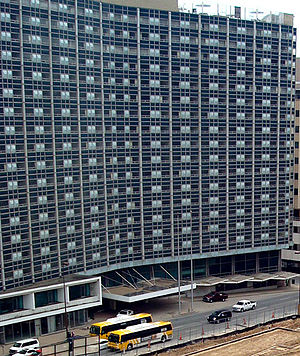 The Statler Hotel & Residences - Dallas Statler Hilton with Main Street Garden Park construction in 2009