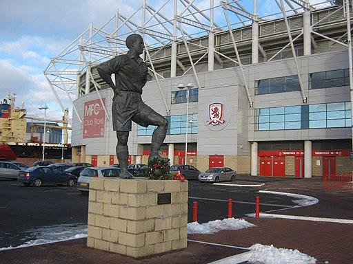 Statue of George Hardwick at Riverside Stadium Middlesbrough - geograph.org.uk - 1691646