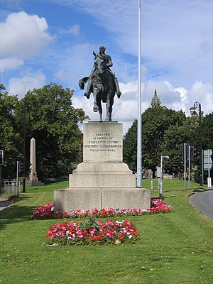 Stapleton Cotton, 1st Viscount Combermere - Statue of Lord Combermere outside Chester Castle, Cheshire