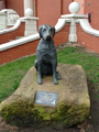 Statue to commemorate the foundation of the Guide Dogs for the Blind Association at The Cliff, New Brighton, in 1931.png
