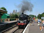 Steam Train, Corfe Castle Station 1.jpg