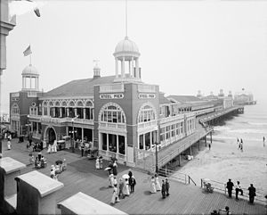 Edward L. Bader - Steel Pier between 1910 and 1920