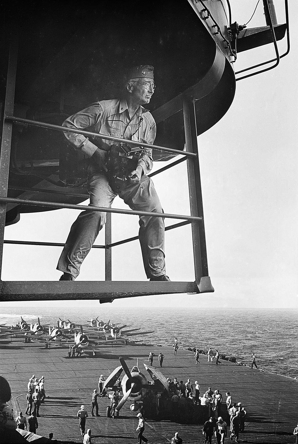 Steichen above Lexington, by Jorgensen, 11-1943