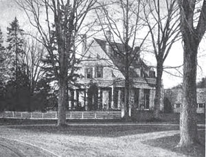 Stephen Barker House - Stephen Barker Place c 1900.