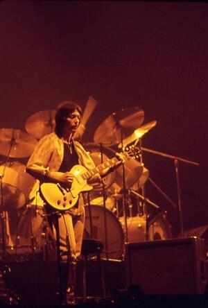 Steve Hackett - Hackett on stage with Genesis, 1977