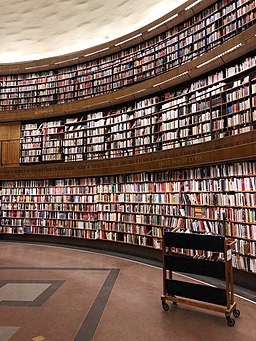 Stockholm Public Library stacks