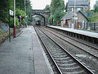 Stocksmoor railway station - The view from platform 2