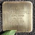Stolperstein Dortmunder Str 3 (Moabi) Mathilde Gottfeld.jpg