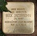 Stolperstein Frankfurter Tor 4 (Frhai) Max Jacobsohn.jpg