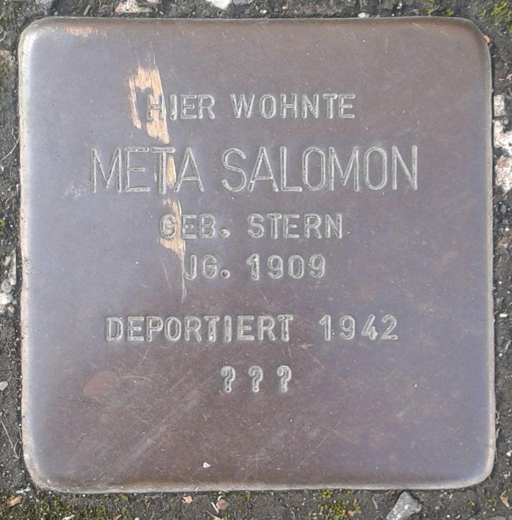 Stolperstein Herborn Austraße 12 Meta Salomon