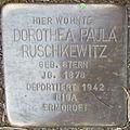 Stolperstein Herford Komturstraße 21 Dorothea Paula Ruschkewitz.JPG