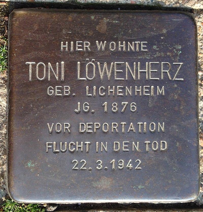 Stolperstein Lauenförde Würgasser Straße 5 Toni Löwenherz.jpg