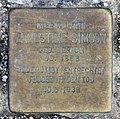 Stolperstein Lessingstr 8 (Hansa) Ernestine Simson.jpg