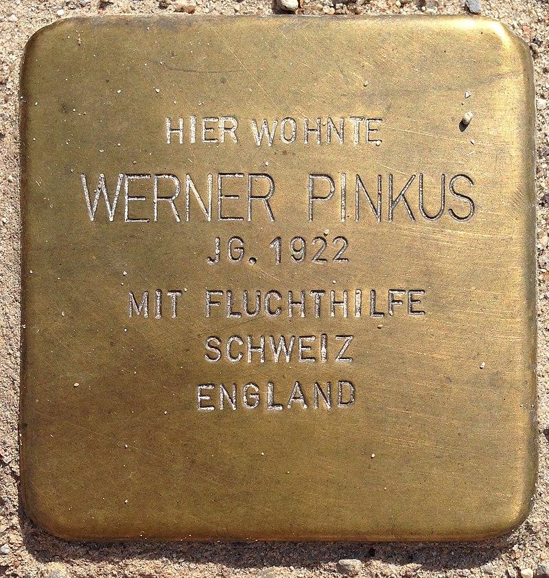 Stolperstein Penzlin Bahnhofstraße 14a Werner Pinkus