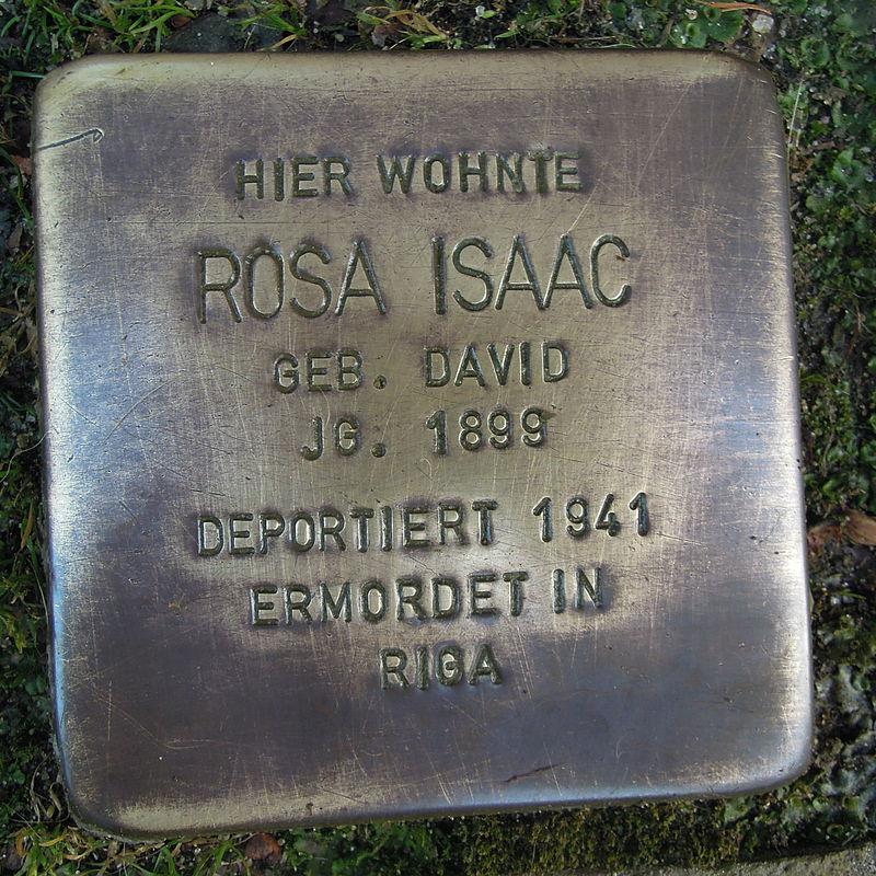 Stolperstein für Rosa Isaac geb.David